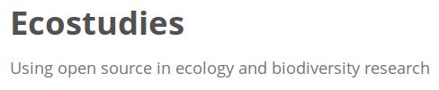 Ecostudies